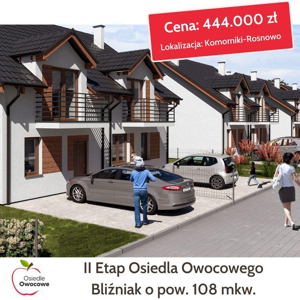 Nowe Domy w Komornikach-Rosnowie – II etap sprzedaży