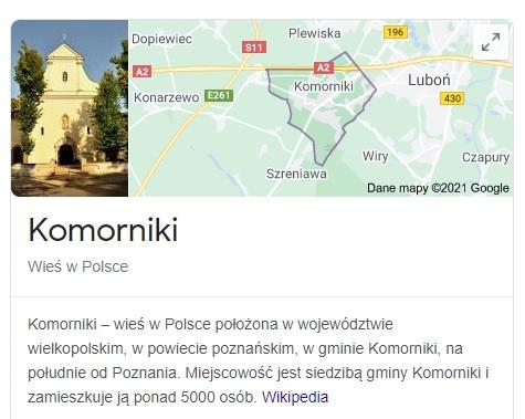 Gmina Komorniki w 10 najbogatszych gmin Wielkopolski w roku 2020